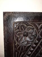 c.1570 A.D. English Tudor Carved Oak Wooden Panel (8 of 11)