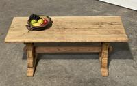 Great Rustic French Bleached Oak Coffee Table (3 of 25)