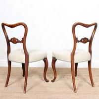 4 Walnut Balloon Dining Chairs 19th Century (2 of 12)