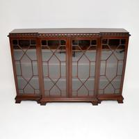Antique Mahogany Chippendale Style Breakfront Dwarf Bookcase (2 of 11)