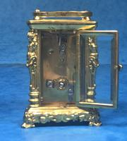 Victorian Miniature Brass Carriage Clock (9 of 11)