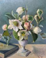 Fabulous Original 20th Century Floral Still Life Study Oil on Board Painting (3 of 11)