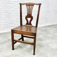 Set of 6 Georgian Welsh Oak Dining Chairs (7 of 8)