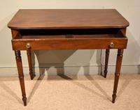 George III Single Drawer Mahogany Side Table (3 of 6)
