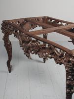 Victorian French Carved Fruitwood & Marble Top Console Table (17 of 19)