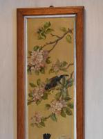 Pair of Oil Paintings of Finches in Blossom (12 of 12)
