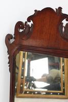Small Georgian Mahogany Fretwork Mirror (8 of 13)
