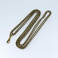 Antique Victorian Long Rolled Gold Guard Muff Chain Necklace (5 of 9)