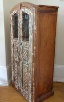 Unique Tall Two Door Teak & Painted Cabinet (5 of 16)