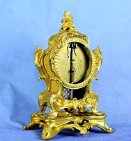 Fine English Ormolu Fusee Mantle Clock - Webster of London (5 of 9)