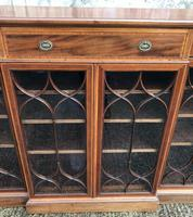 Wonderful Edwardian Inlaid Mahogany Four Door Breakfront Bookcase by Maple & co (12 of 14)
