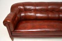 Antique Swedish Leather Club Sofa (4 of 11)