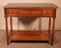 Louis XVI Console in Cherrywood, 18th Century Stamped LM Pluvinet