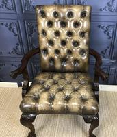 Georgian Style Mahogany Desk Chair c.1920 (4 of 15)