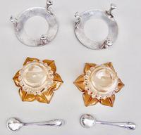 Delightful Pair of Victorian Silver Plated Stands with Glass Salts by John Grinsell & Sons c.1890 (10 of 10)