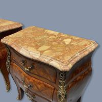 Pair of Italian Parquetry Bedside Commodes (5 of 8)