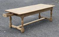 Large French Bleached Oak Farmhouse Table with Extensions (21 of 26)
