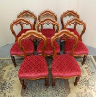 set of 8 mahogany dining chairs (3 of 7)