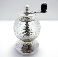 Rare Hukin Heath / Christopher Dresser 1893 Victorian Solid Sterling Silver Glass Antique Pepper Mill / Shaker / Grinder Arts & Crafts Aesthetic (2 of 11)
