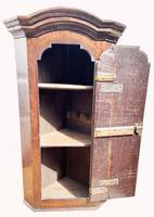 A Lovely George III Oak Hanging Wall Corner Cabinet (7 of 9)