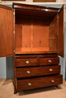Lovely George III Mahogany Linen Press (4 of 8)