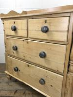 Victorian Antique Pine Chest of Drawers with Gallery Back (9 of 10)