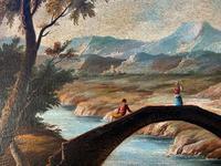 Substantial! Original Italian Landscape Oil by Follower of 17th Century Gaspard Dughet (12 of 15)
