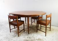 1970's G Plan mid century extending dining table and 4 dining chairs