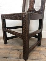 Antique Victorian Carved Oak Chair (9 of 14)