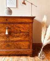 Flamed Mahogany Drawers / Louis Philippe Commode / Sideboard / Marble (6 of 9)