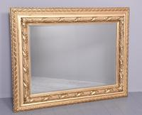 Victorian Carved Giltwood Rectangular Wall Mirror (2 of 6)