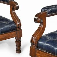 Pair of William IV Mahogany & Leather Upholstered Armchairs (11 of 11)
