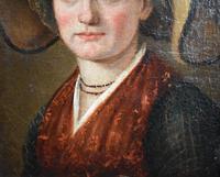 """Swiss School Portrait c1800 Inscribed """"Johann Biedermann 1763-1830"""" (9 of 9)"""