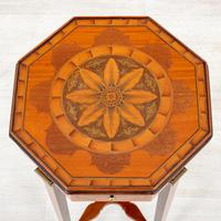 Quality Mahogany Inlaid Urn Stand (2 of 10)