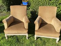 Large Pair of Upholstered Armchairs (4 of 6)