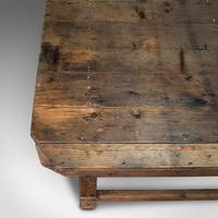 Large Antique Textiles Table, English, Pine, Shop, Retail, Display, Victorian (8 of 12)