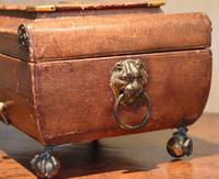 Fine Regency Leather Work Box (11 of 14)