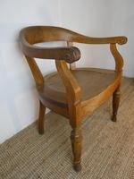 19th Century Oak Desk Chair (5 of 10)