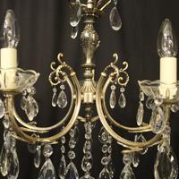 Italian 5 Light Silver Gilded Chandelier (4 of 10)
