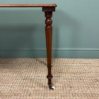 Elegant Victorian Mahogany Antique Side Stretcher Table (3 of 7)