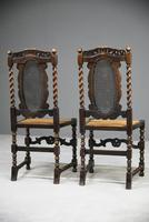 Pair of Oak Cane Hall Chairs (10 of 11)
