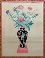 Large Original Japanese Inspired Floral Still Life Watercolour Painting (4 of 12)
