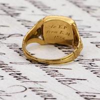 The Antique Georgian 1824 Rectangular Garnet Ring (5 of 5)