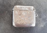 Sterling Silver Vesta Case - 1925 (2 of 4)