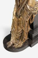19th Century Seated Maiden on a Stepped Black Marble Base (5 of 6)