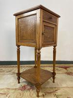 Antique French Bedside Cabinets Marble Tops Walnut Pot Cupboards (9 of 12)