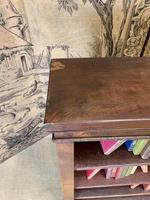 English 19th Century Mahogany Open Bookcase (3 of 5)