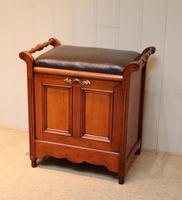 Edwardian Walnut Piano Stool (6 of 9)