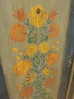 Antique Swedish Style Painted Folk Art Wardrobe Armoire (22 of 22)