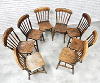 8 x 19th Century Windsor Kitchen Chairs (4 of 9)